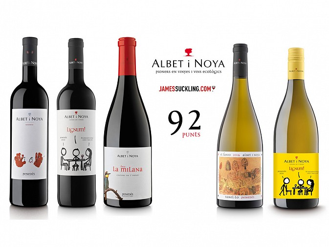Albet i Noya Wines Do Well in the Prestigious James Suckling Tasting